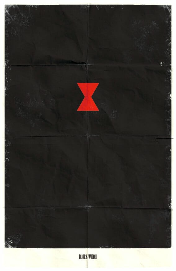 Vamers - Marko Manev - Minimalist Marvel Posters - Black Widow