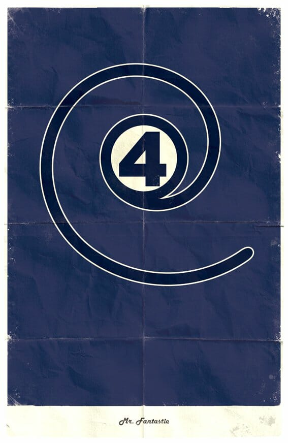 Vamers - Marko Manev - Minimalist Marvel Posters - Fantastic Four - Mr. Fantastic
