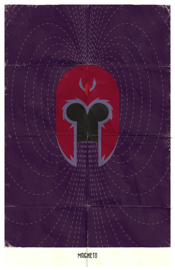 Vamers - Marko Manev - Minimalist Marvel Posters - Magneto