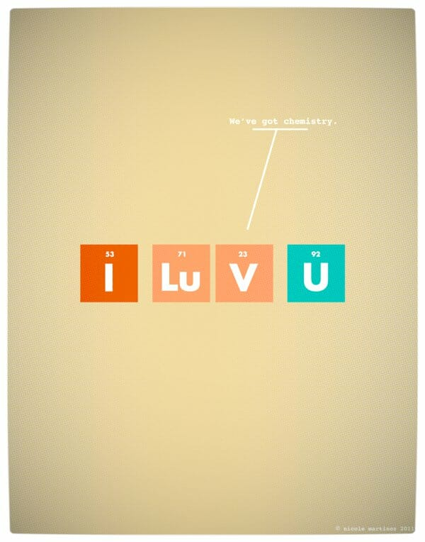 Vamers - Artistry - Minimalist Geek Love Posters - We've Got Chemistry