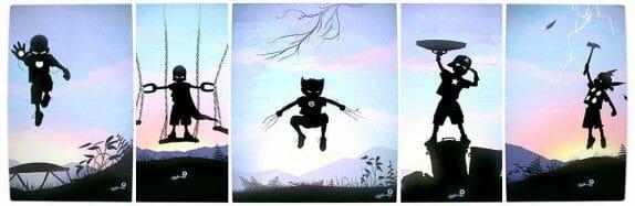 Vamers - Artistry - Superhero Kids Silhouette - Banner