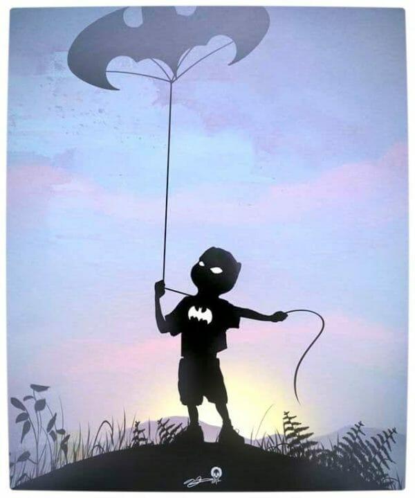 Vamers - Artistry - Superhero Kids Silhouettes - Batman Kid