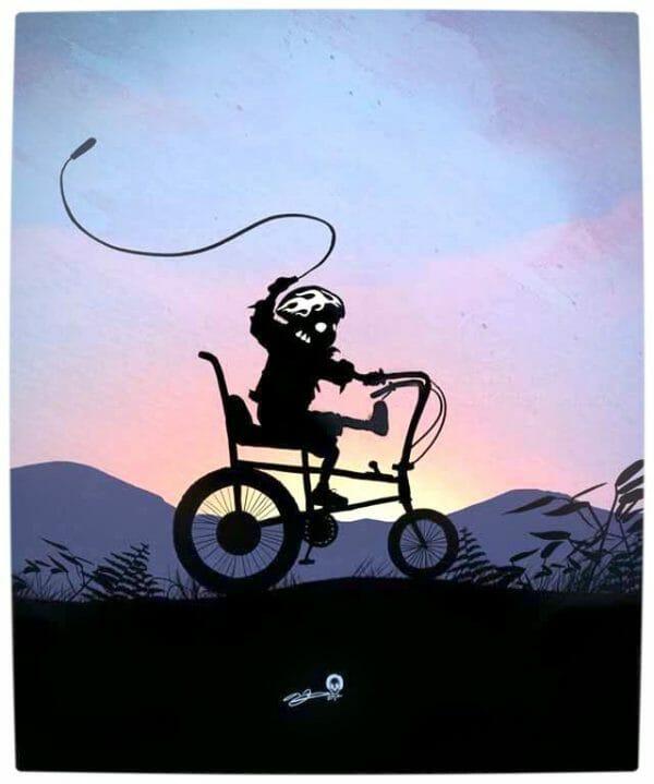 Vamers - Artistry - Superhero Kids Silhouettes - Ghostrider Kid
