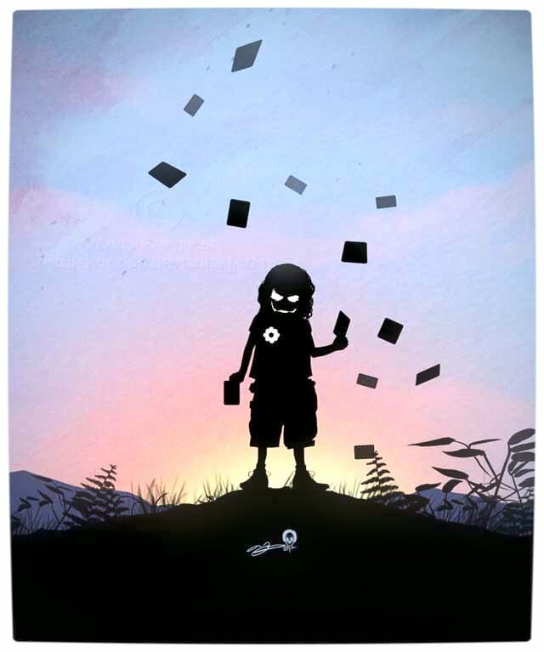 Vamers - Artistry - Superhero Kids Silhouettes - Joker Kid