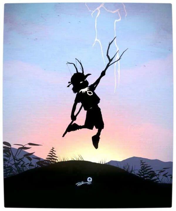 Vamers - Artistry - Superhero Kids Silhouettes - Loki Kid