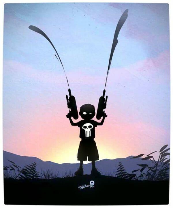 Vamers - Artistry - Superhero Kids Silhouettes - Punisher Kid