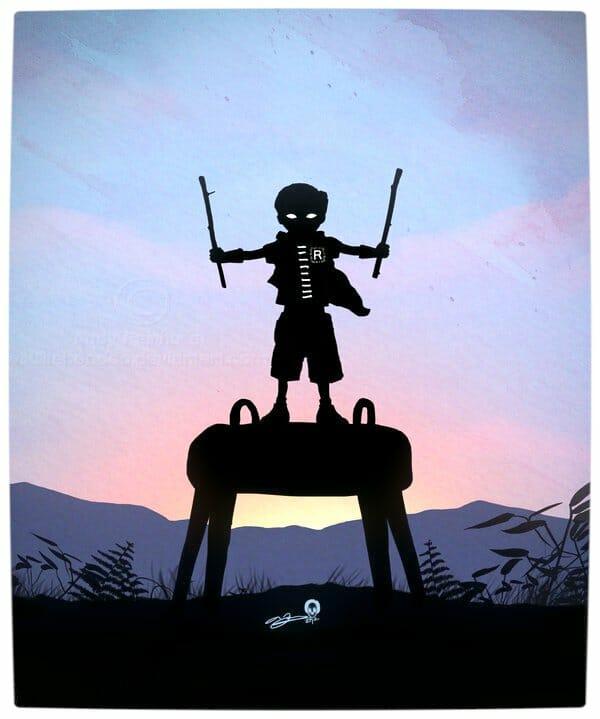 Vamers - Artistry - Superhero Kids Silhouettes - Robin Kid