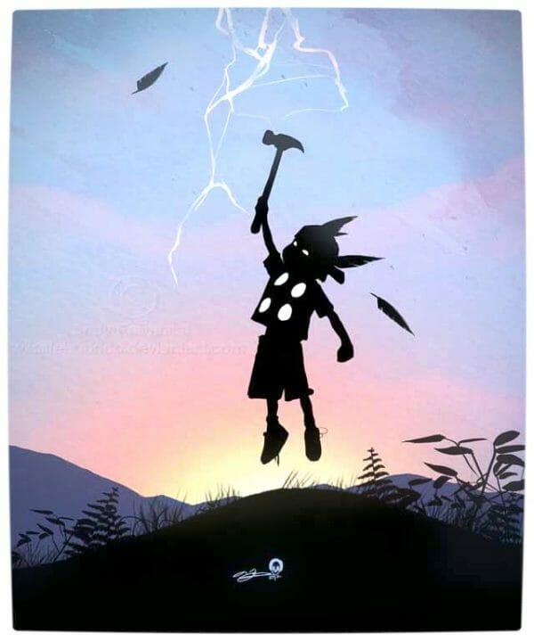 Vamers - Artistry - Superhero Kids Silhouettes - Thor Kid