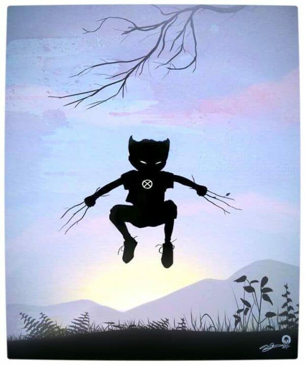 Vamers - Artistry - Superhero Kids Silhouettes - Wolverine Kid