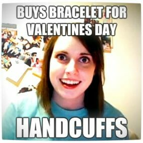 Vamers - Humour - Overly Attached Girlfriend - V-Day Handcuffs