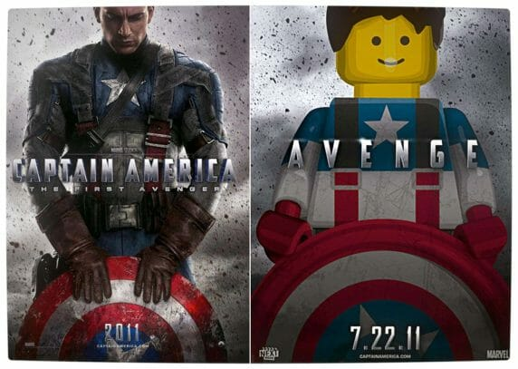 Vamers - Fandom - Movie Lego Posters - Captain America