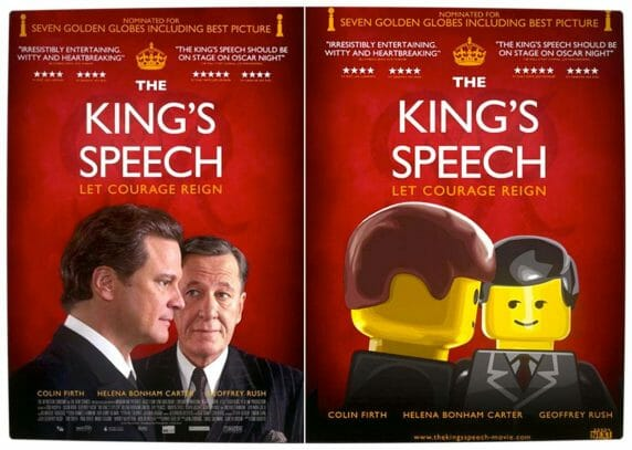 Vamers - Fandom - Movie Lego Posters - The Kings Speech