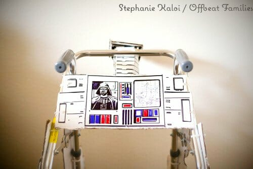 Vamers - Geekosphere - G-Life - Recovering 4 Year Old Boy Gets Custom Star Wars AT-AT Walker - Walker Control Panel
