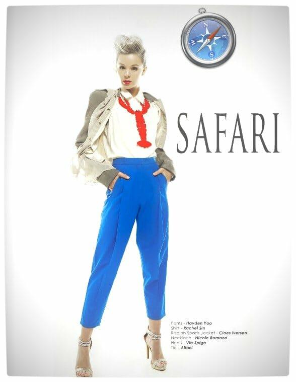 Vamers - Apparel - Ladies Fashion Inspired by Internet Browsers - Viktorija Pashuta - Safari