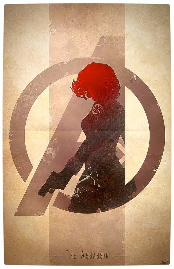 Vamers - Artistry - Anthony Genuardi - Minimalist Avengers Initiative Posters - Black Widow