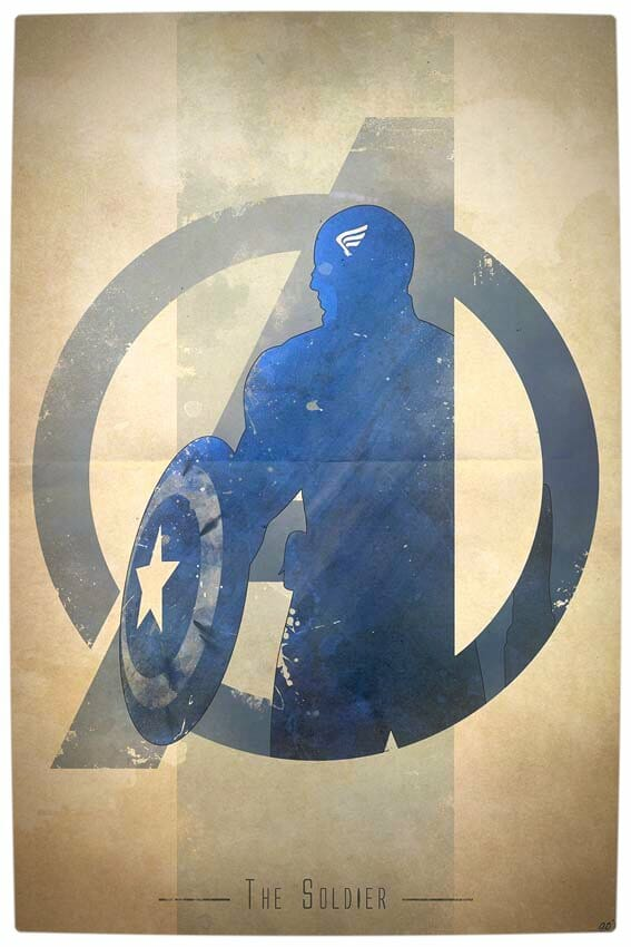 Vamers - Artistry - Anthony Genuardi - Minimalist Avengers Initiative Posters - Captain America