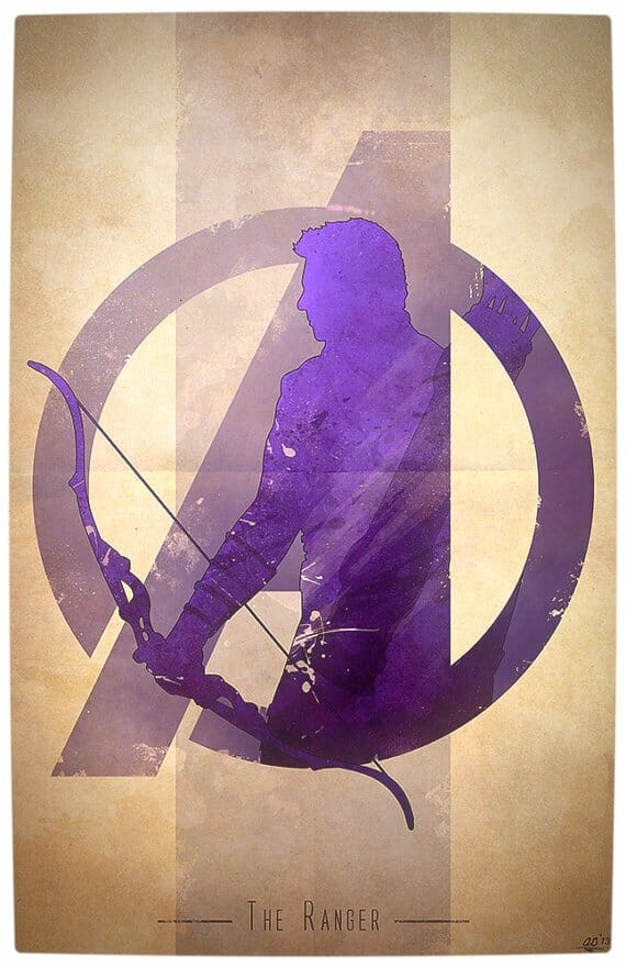 Vamers - Artistry - Anthony Genuardi - Minimalist Avengers Initiative Posters - Hawkeye