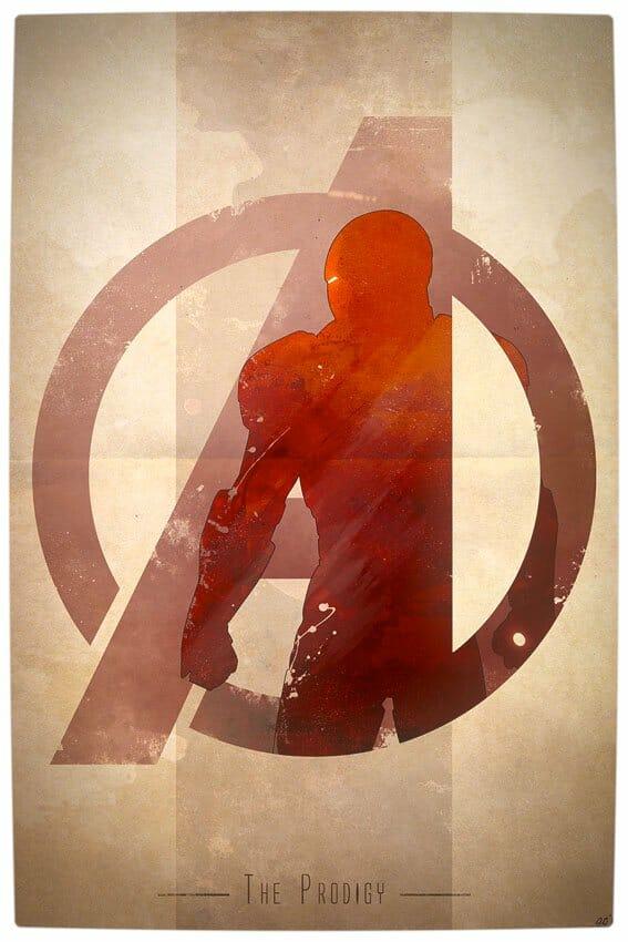 Vamers - Artistry - Anthony Genuardi - Minimalist Avengers Initiative Posters - Iron-Man