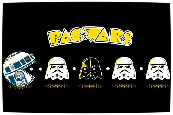 Vamers - Artistry - Apparel - Pac Wars pac-Man and Star Wars Mash-Up