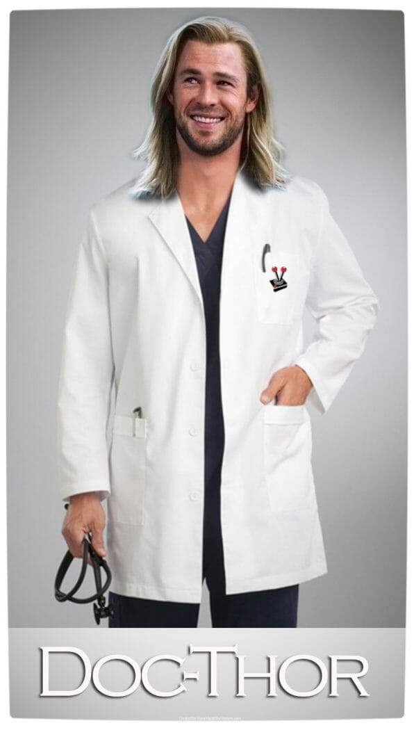 Vamers - Artistry - Humour - Doc-Thor - Thor as a Doctor (Proper) - By Hans Haupt