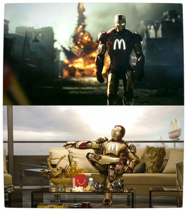 Vamers - Artistry - What if your favourite superhero had a corporate sponsorship - Iron-Man sponsored by MacDonalds 02