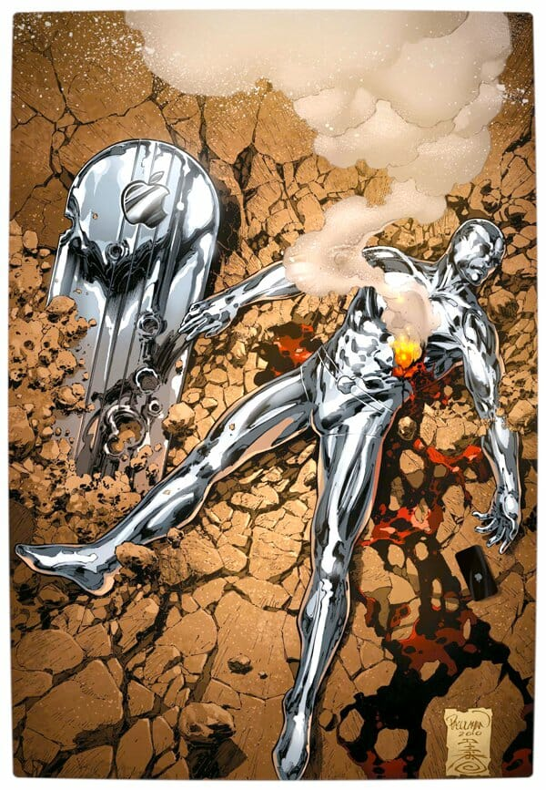 Vamers - Artistry - What if your favourite superhero had a corporate sponsorship - Silver Surfer sponsored by Apple