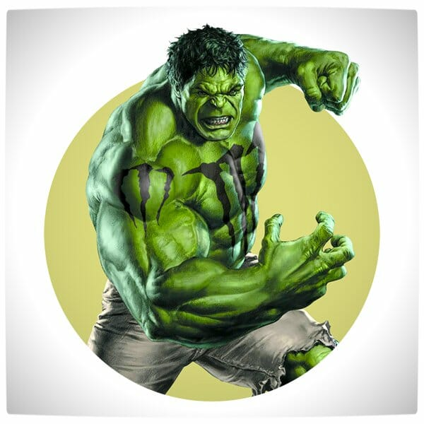 Vamers - Artistry - What if your favourite superhero had a corporate sponsorship - The Hulk sponsored by Monster Energy Drinks 02
