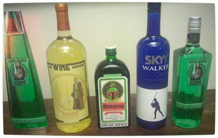 Vamers - SUATMM - Star Wars Inspired Alcohol to Help Get Drink on the Force - Bottle Line-Up
