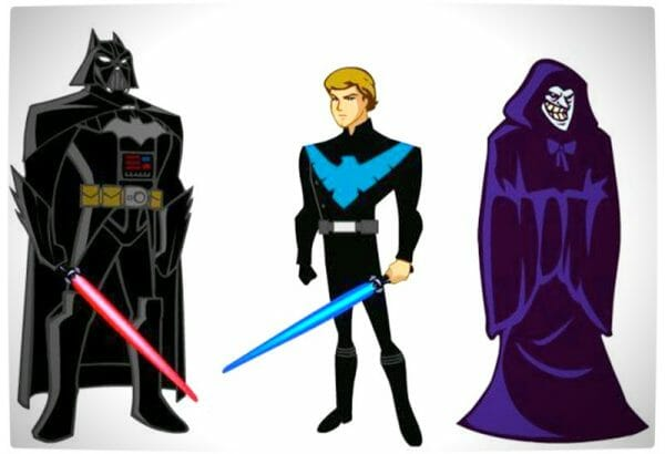 Vamers - Artistry - Bat Vader is The Dark Knight of the Sith - Batman and Darth Vader Mash-Up - Bat Vader and the Clone Wars