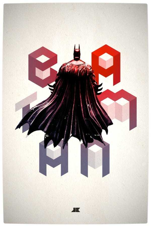 Vamers - Artistry - Beautifully Stylized Posters Of Heroes and Villains - By Josip Kelava - Batman