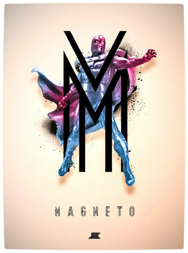 Vamers - Artistry - Beautifully Stylized Posters Of Heroes and Villains - By Josip Kelava - Magneto
