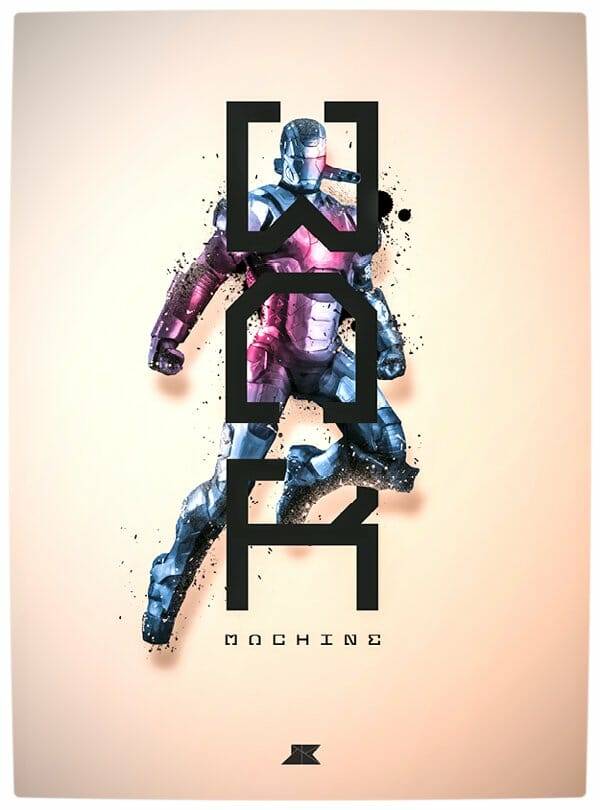 Vamers - Artistry - Beautifully Stylized Posters Of Heroes and Villains - By Josip Kelava - War Machine