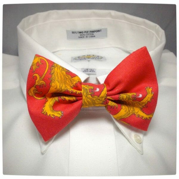 Vamers - Geek Chic - Geek-Up with these Game of Thrones bow ties - House Lannister