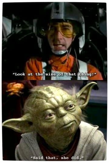 Vamers - Humour - Said That She Did - A Meme By Yoda - Size