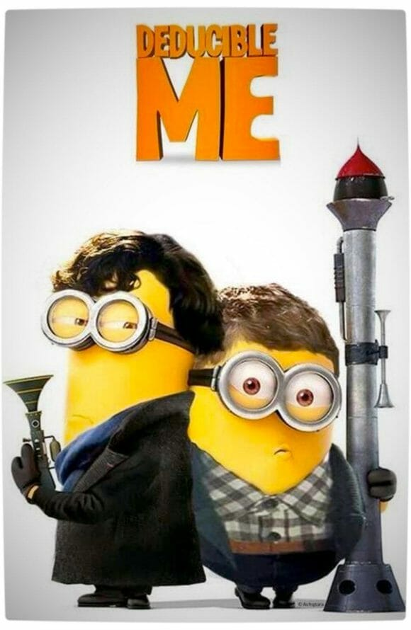 Vamers - Artistry - Deducible Me Sherlock Holmes & Doctor Watson as Minions - Ready for Action
