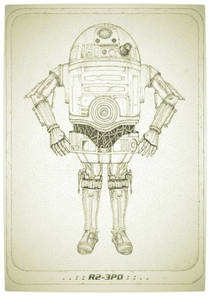 Vamers - Artistry - R2-3PO is the Love Child of Luke's Favourite Driods - Blue Print