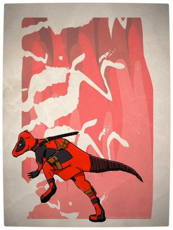 Vamers - Artistry - Superhero Dinosaurs Cretaceously Cool - Deadpachycepoolosaurus