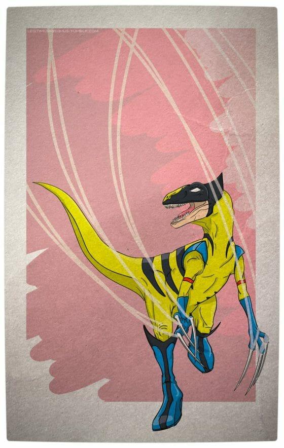 Vamers - Artistry - Superhero Dinosaurs Cretaceously Cool - Wolveraptor