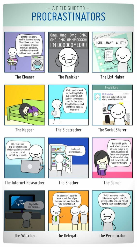 Vamers - Humour - WHat Kind of Procrastinator Are You - Full Comic by 20PX