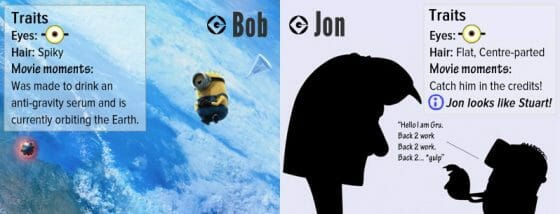 Vamers - Infographics - A Who's Who of the Minions from Despicable Me - Bob and Jon
