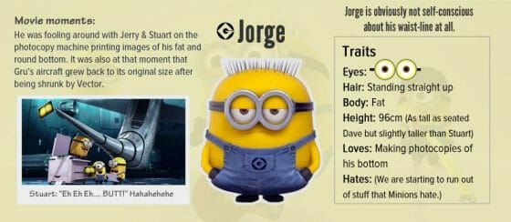 Vamers - Infographics - A Who's Who of the Minions from Despicable Me - Jorge