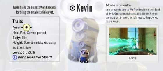 Vamers - Infographics - A Who's Who of the Minions from Despicable Me - Kevin