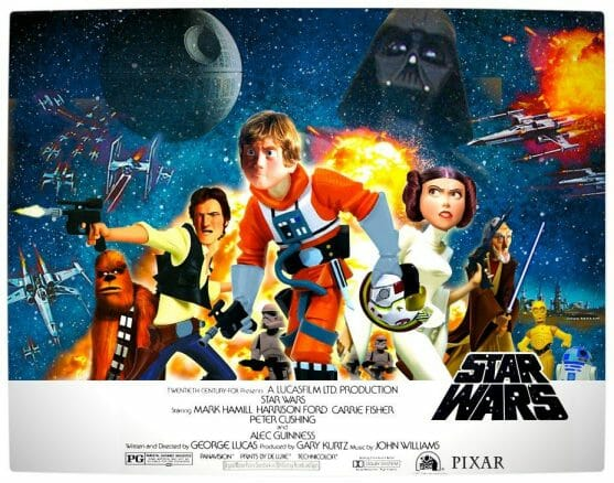 Vamers - Artistry - Star Wars as if it had been created by Pixar - Pixar Wars Full Poster