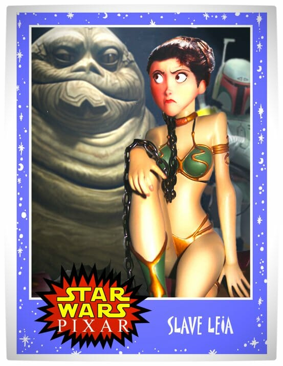 Vamers - Artistry - Star Wars as if it had been created by Pixar - Slave leia