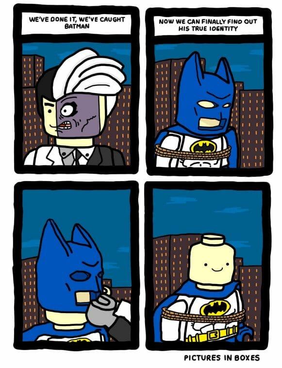 Vamers - Geekosphere - Artistry - Lego Batman's Identity Revealed - Full