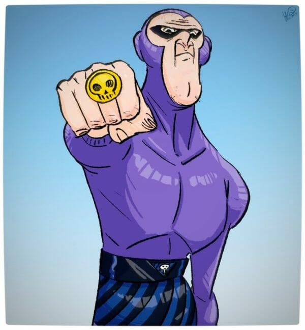 Vamers - Geekosphere - Artistry - Old Superheroes - Heroes in in their Golden Years - Art by Lelpel - Phantom