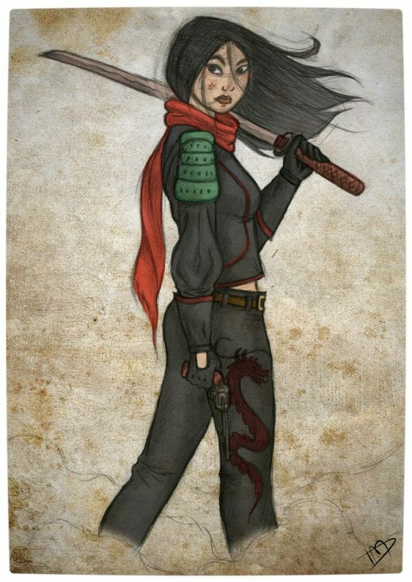 Vamers - Geekosphere - Artistry - 'The Walking Disney' Imagines Disney Royalty as The Walking Dead Survivors - Mulan
