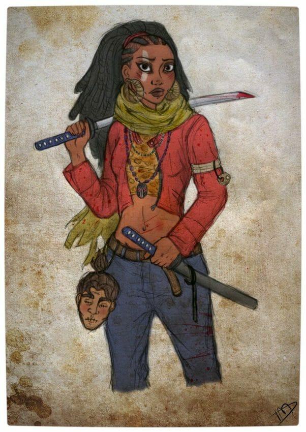 Vamers - Geekosphere - Artistry - 'The Walking Disney' Imagines Disney Royalty as The Walking Dead Survivors - Tiana as Michonne