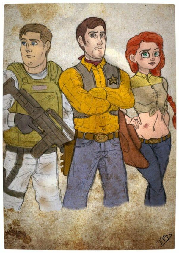 Vamers - Geekosphere - Artistry - 'The Walking Disney' Imagines Disney Royalty as The Walking Dead Survivors - Woody, Buzz and Jessie