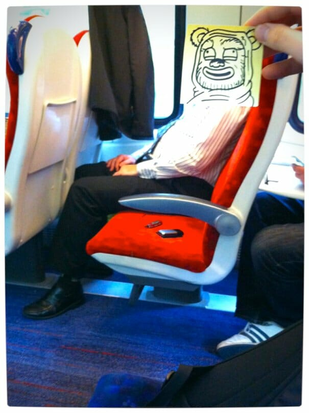 Vamers - Artistry - Illustrator Turns Fellow Commuters Into Cartoon Characters - October Jones - Joe Butcher - Wookie
